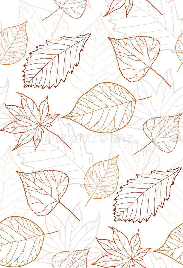 Fall Maple Leaf Tiled Wallpaper Autumn Flourish Texture Leaves Stylish Wallpaper Stock