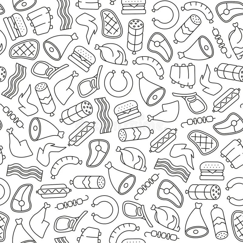 Kitchen pattern stock vector. Illustration of lemon, home