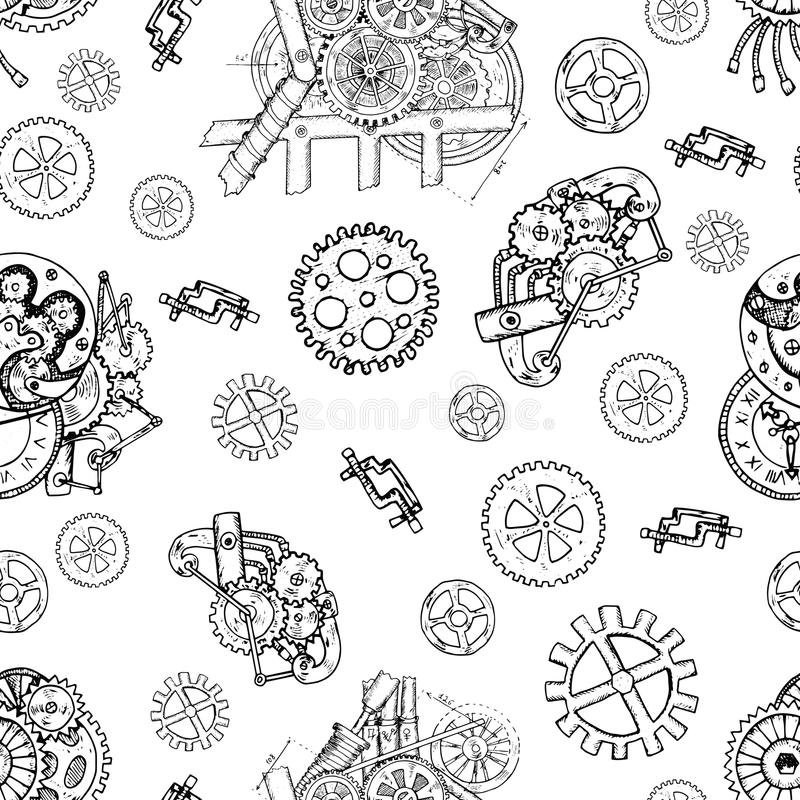 Cogwheel Clock Stock Images Royalty