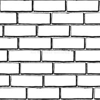 Seamless Black-white Brick Texture Stock Vector - Image ...