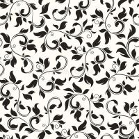 Seamless Black And White Floral Pattern. Vector ...