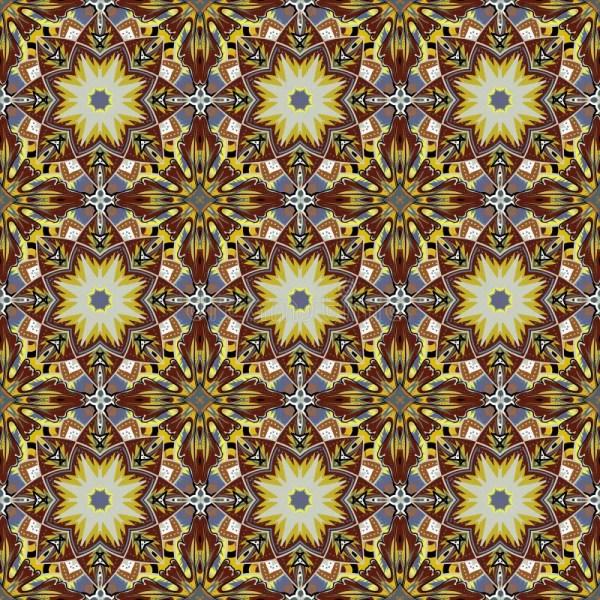 Seamless Damask Background Pattern Design And Wallpaper