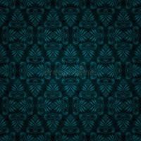 Seamless Dark Blue Tile Vintage Wallpaper Design Stock ...