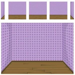 Empty Room Background Vector 2