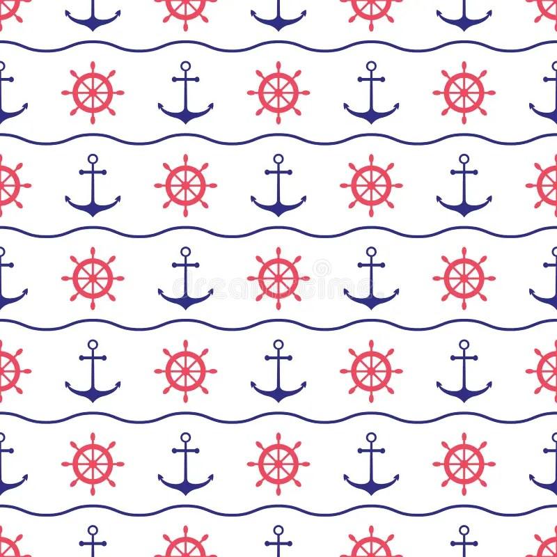 Cute Cartoon Hd Wallpaper Download Seamless Nautical Pattern Stock Vector Illustration Of