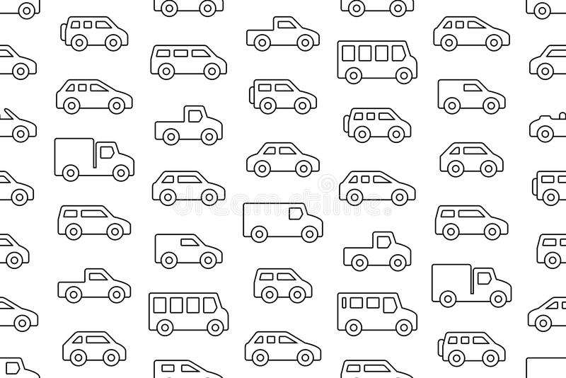 Cars and trucks stock vector. Illustration of drawing