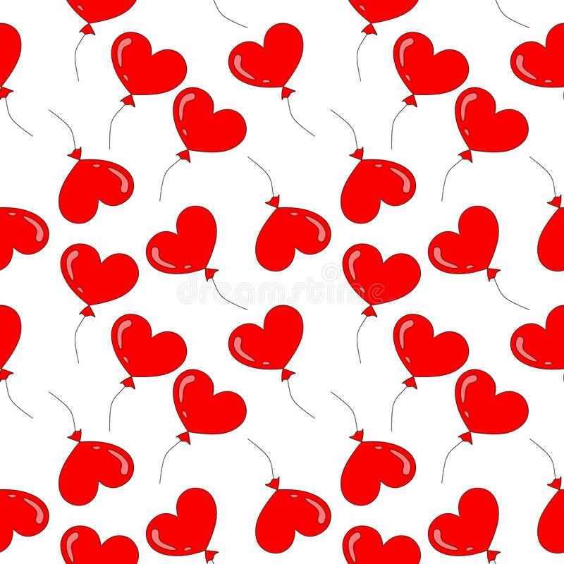 Download Red Heart Balloons Couple In Love Stock Illustration ...