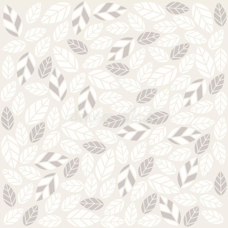 Seamless Plant Pattern With Fabric Texture Stock Vector