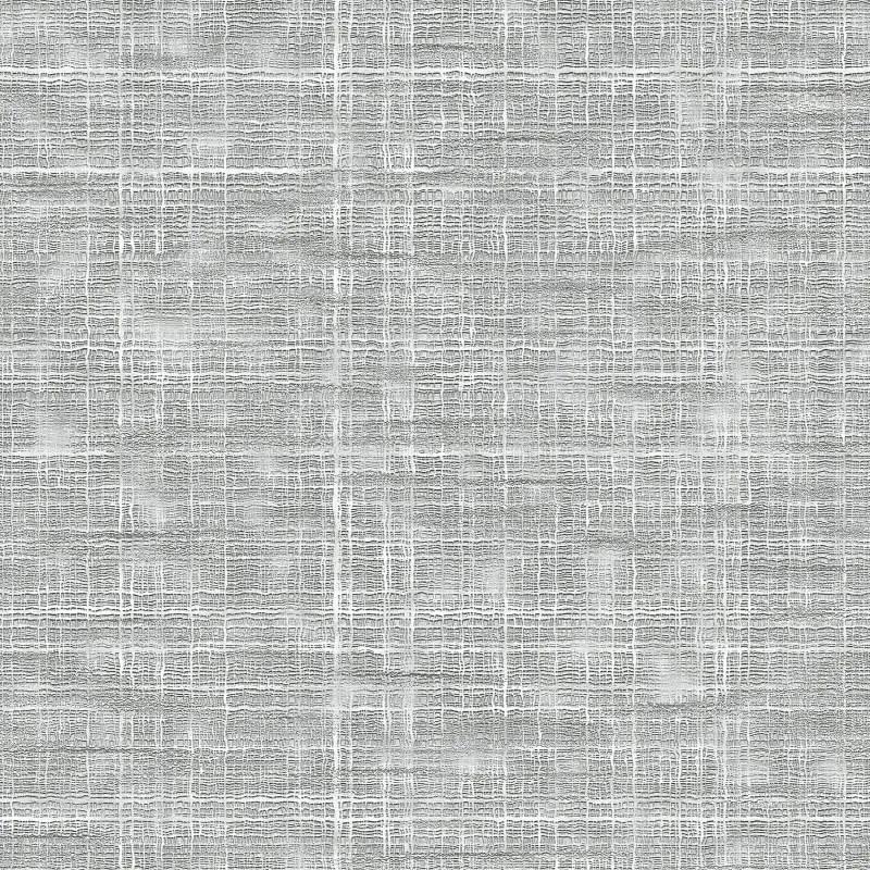 Seamless White Coarse Fabric Texture Stock Illustration