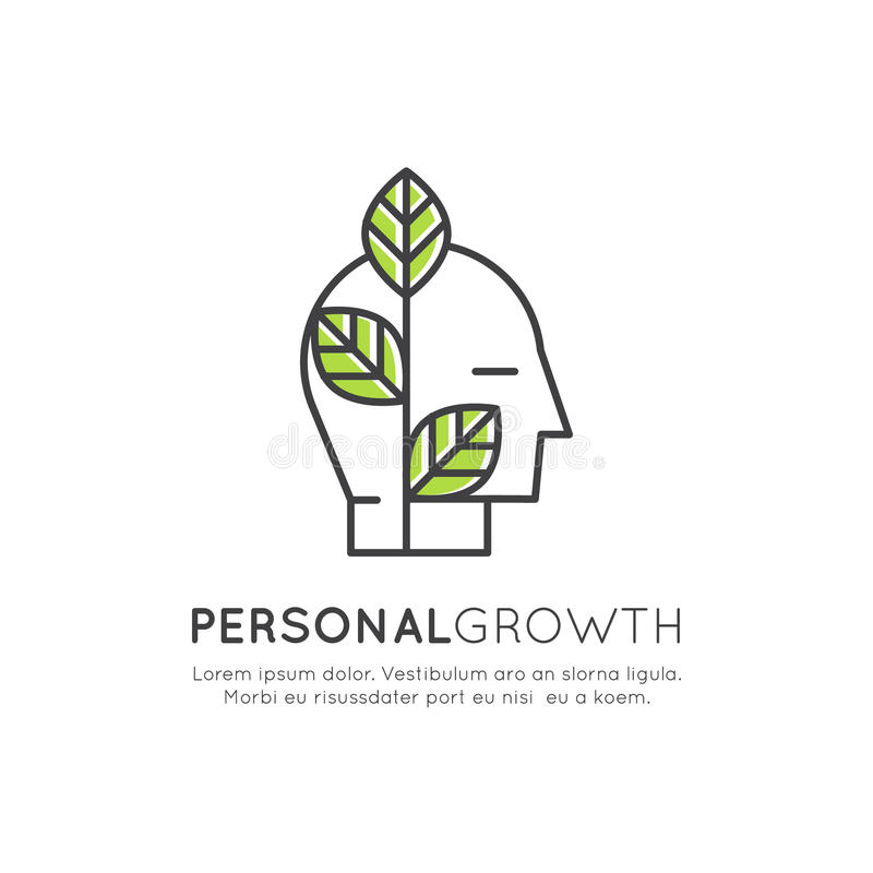 Self Development, Education, Personal Growth Concept Stock