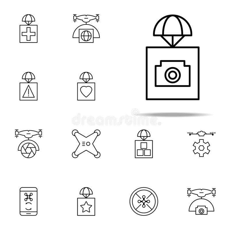 Sending A Message Icon. Elements In Multi Colored Icons