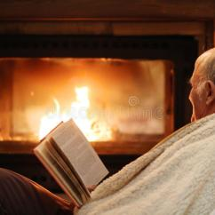 Free Rocking Chair Plans Kimball Office Senior Man Relaxing By Fireplace Stock Photo - Image Of Comfort, Grandfather: 50192248