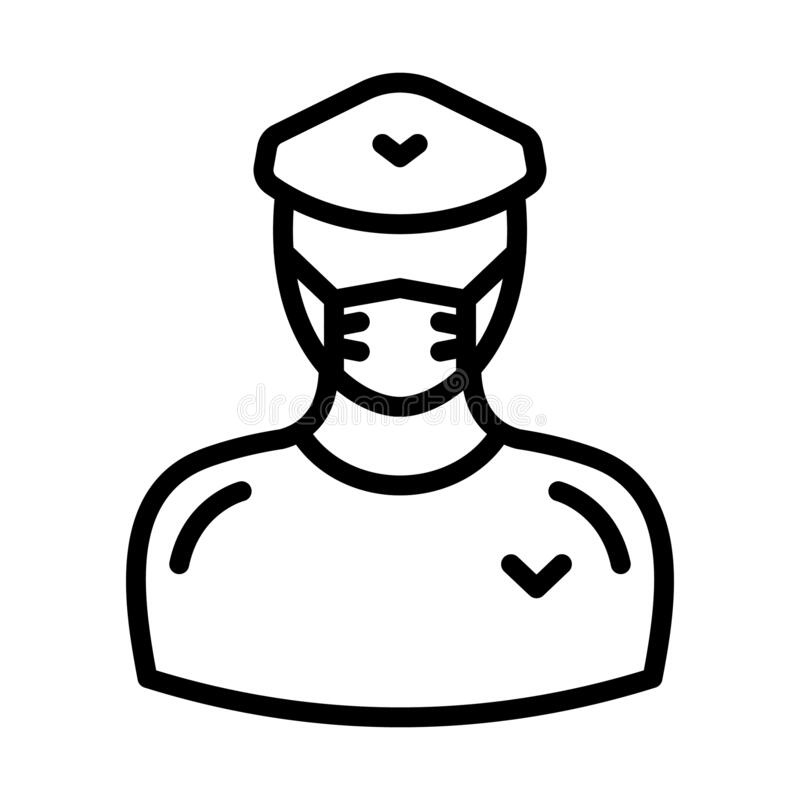 Sergeant Vector Illustration Icon Which Can Easily Modify