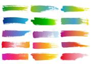 watercolor brush strokes vector