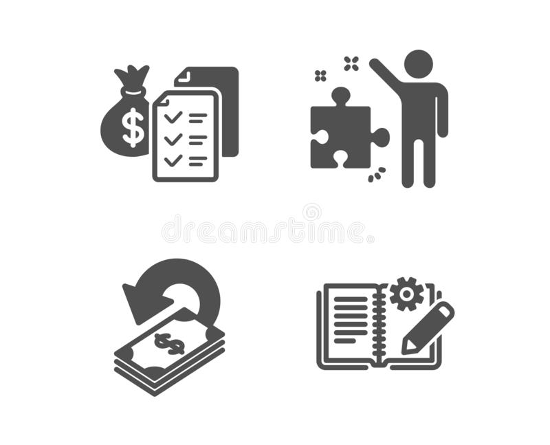 Accounting Wealth Line Icon. Audit Report Sign. Stock