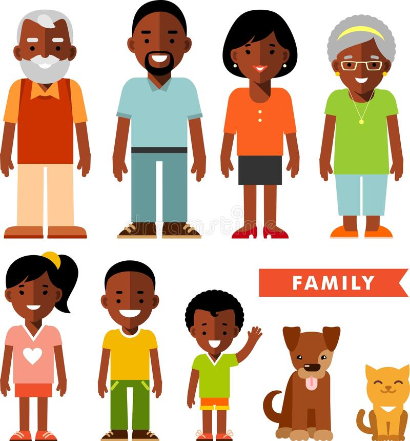 African American Couple Cartoon Drawings