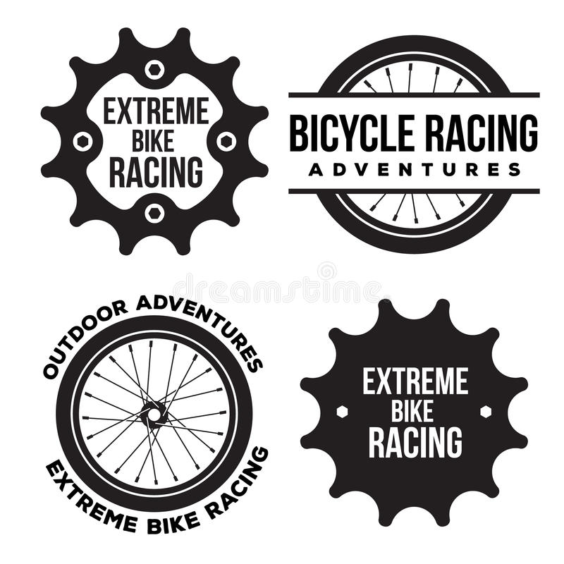 Set Of Bicycle Extreme Sport Related Logo, Emblems Stock
