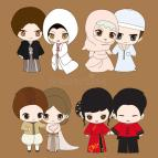 Cute Wedding Cartoons
