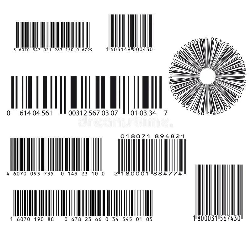 Barcode set stock vector. Illustration of graphics, design