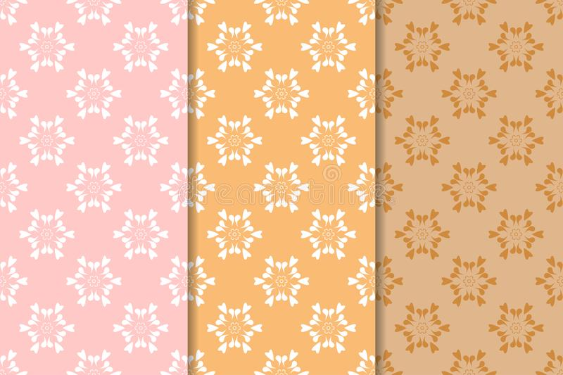 Fall Maple Leaf Tiled Wallpaper Orange Vector Seamless Patterns Tiling Geometric