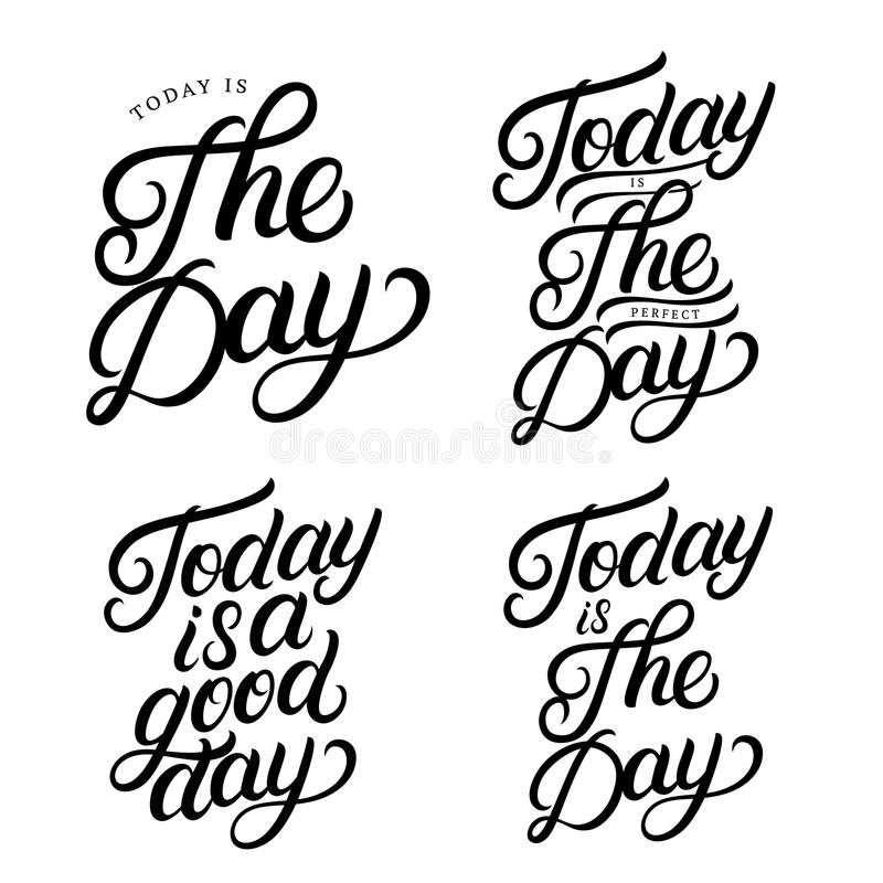 Motivation Lettering Phrases Set. Hand Drawn Vector