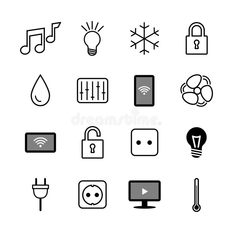 Set Of Icons. Internet Of Things. Smart House.Smart Home