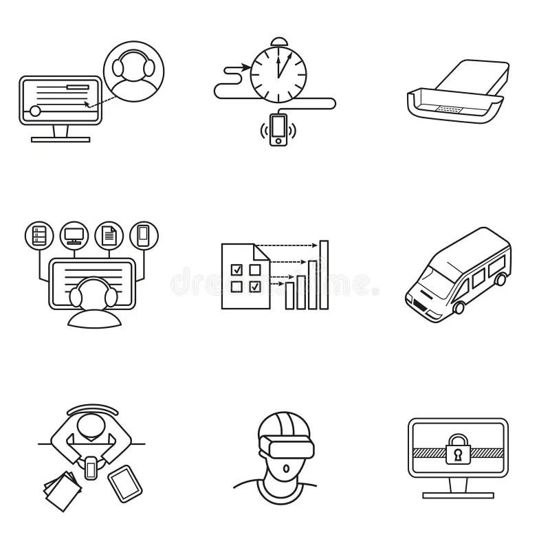 Virtual office symbol stock illustration. Illustration of