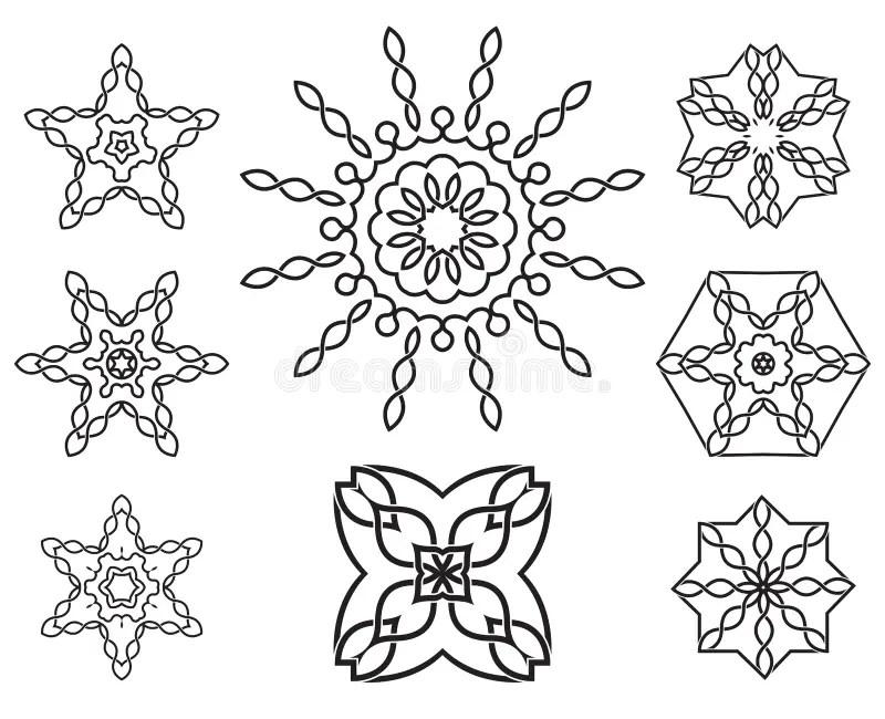 Set Of Knot Design Geometric Elements Stock Photo