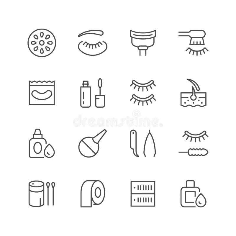 Eyelash extension shape stock vector. Illustration of