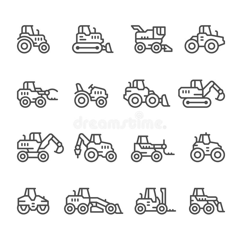 Set icons of machine tool stock vector. Illustration of