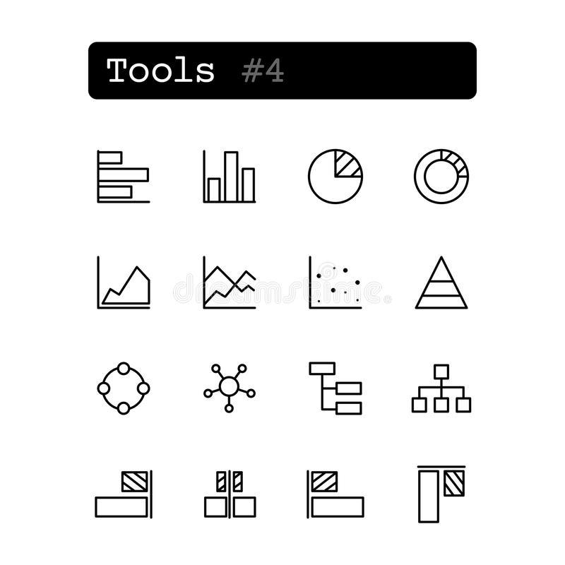 Vector Chart And Table Editor Icon Stock Vector