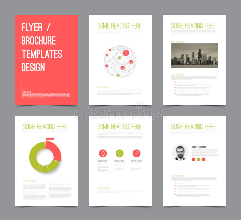 Set Of Modern Brochure Flyer Design Templates Stock Vector