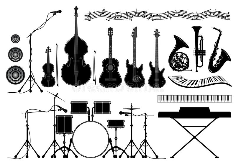 Notes French Horn Stock Illustrations