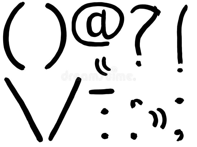 Punctuation Symbol Stock Illustrations