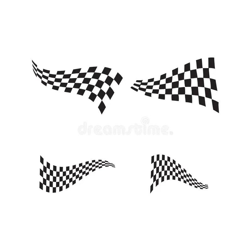 Set Race flag icon design stock vector. Illustration of