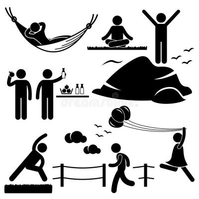 Healthy Living Wellness Lifestyle Pictogram Stock Vector ...