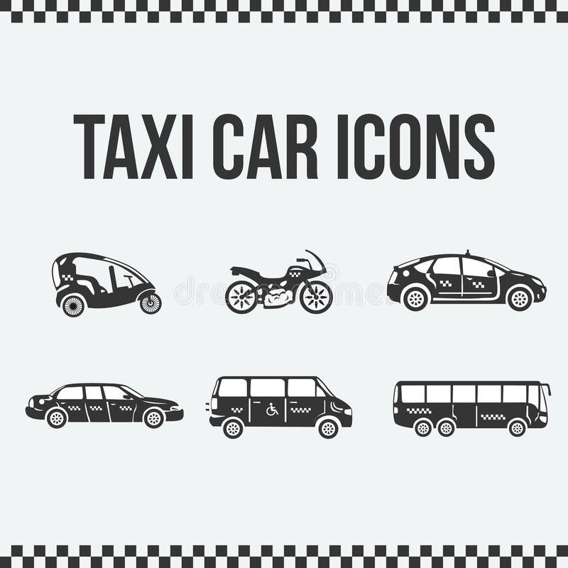 Set Of Taxi Icons For Web Sites, Presentations. Stock