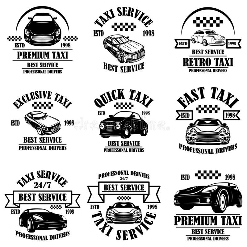 Taxi service design stock vector. Illustration of