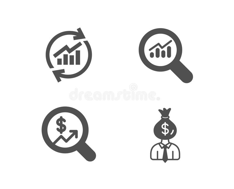 Manager, Currency Exchange And Marketing Strategy Icons