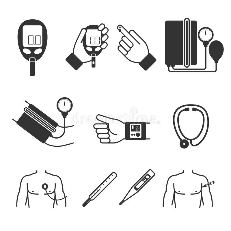 Set Of Vector Medical Measurement And Tools Stock Vector