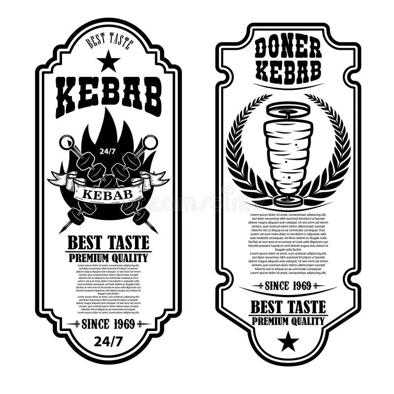 Doner Kebab Stock Illustrations