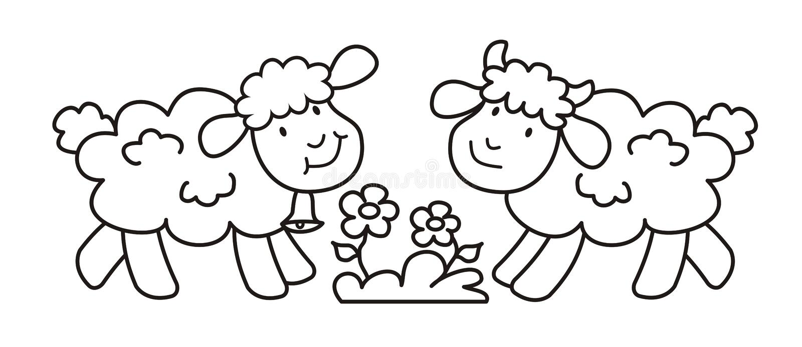 Sheep And Lamb Coloring Page Vector Icon Stock Vector Illustration Of Book Baby 137126231