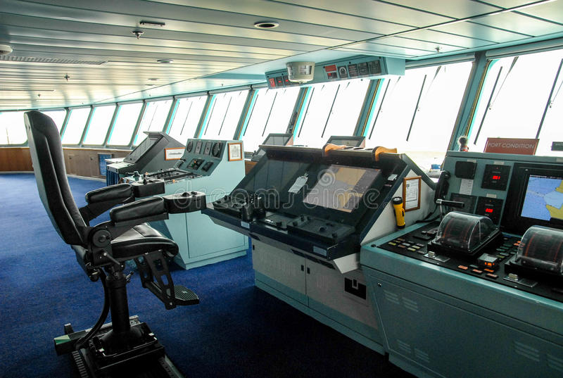 Ship bridge stock photo Image of marine control