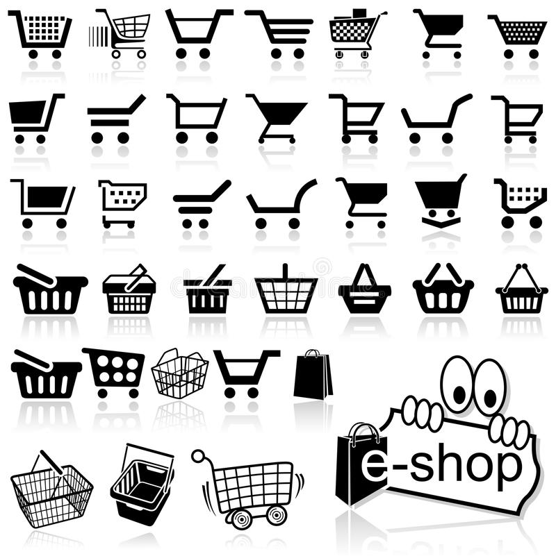 Shopping Cart Icon stock vector. Image of checkout, symbol