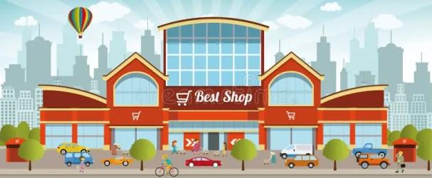 shopping center clipart vector illustration mall clip centre merkezi dreamstime illustrations vectors cliparts inside