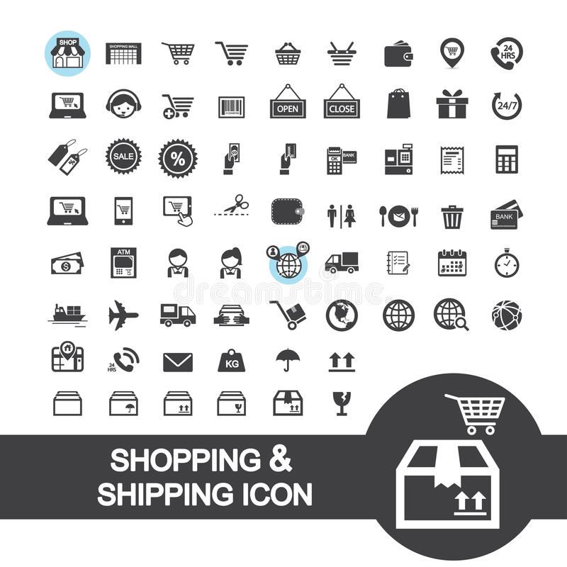 Manufacturing Process Or Production Icons Set Stock Vector