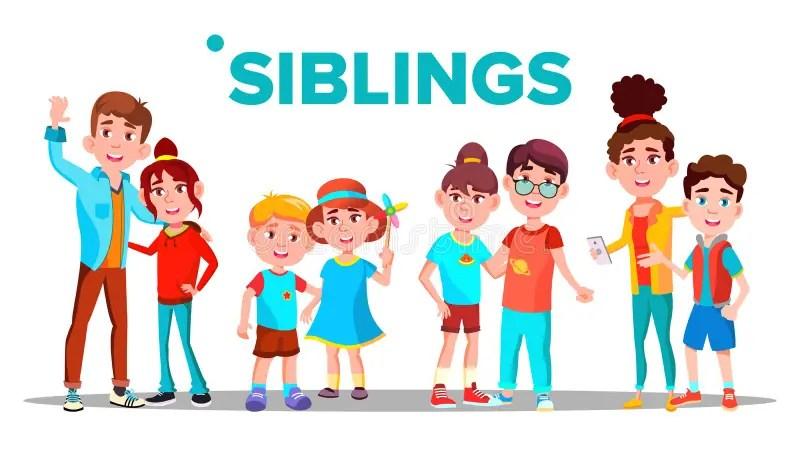 siblings stock illustrations 3
