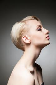side view of pretty model