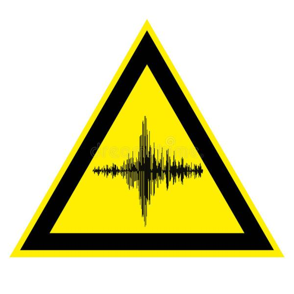 Sign Of High Noise And Acoustic Vibration Stock Vector