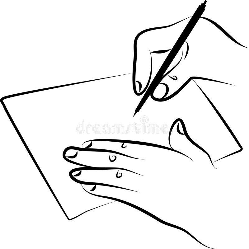 Signing document stock illustration. Illustration of note